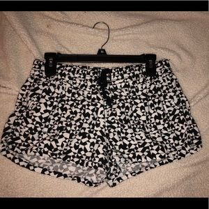 Black and white shorts!